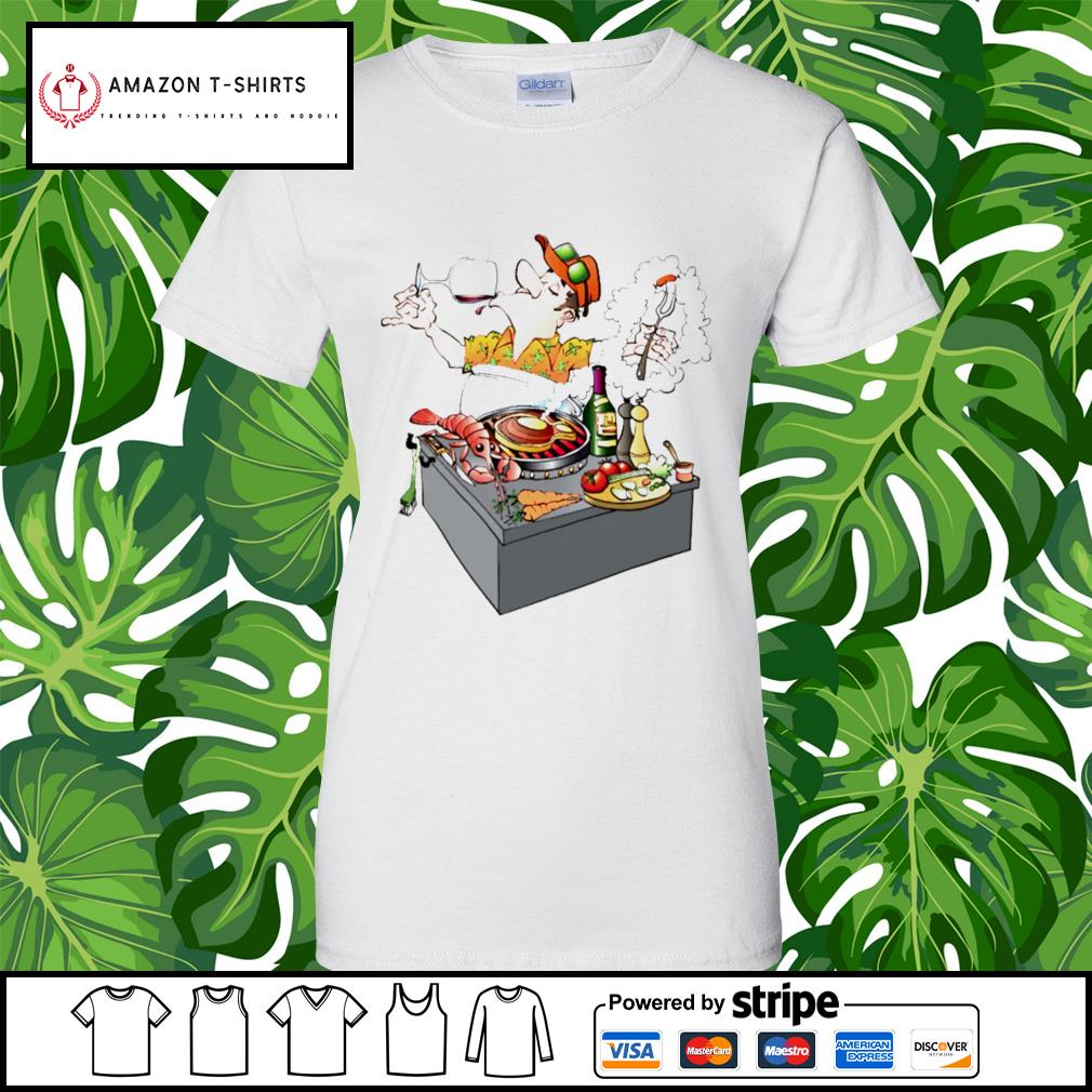 Grillmaster Stock Illustrations cartoon s ladies-tee