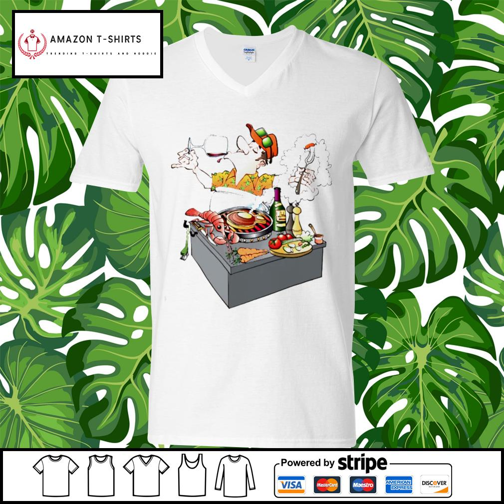 Grillmaster Stock Illustrations cartoon s v-neck-t-shirt