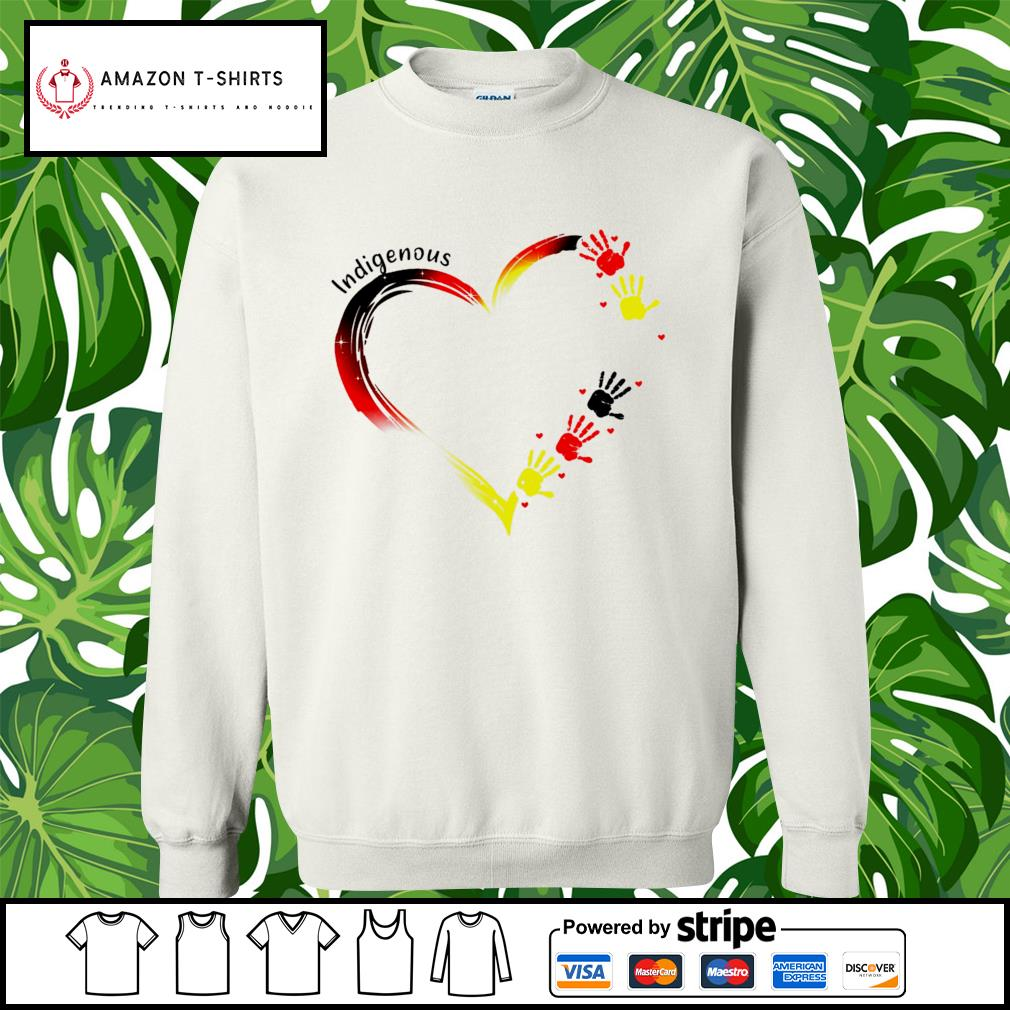 Heart indigenous hand s sweater
