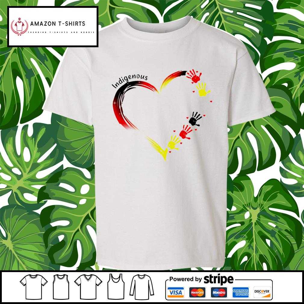 Heart indigenous hand s youth-tee
