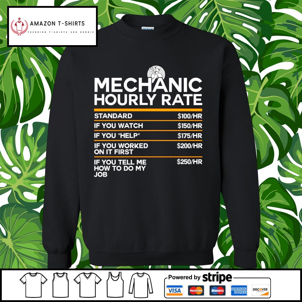 Mechanic hourly rate s sweater