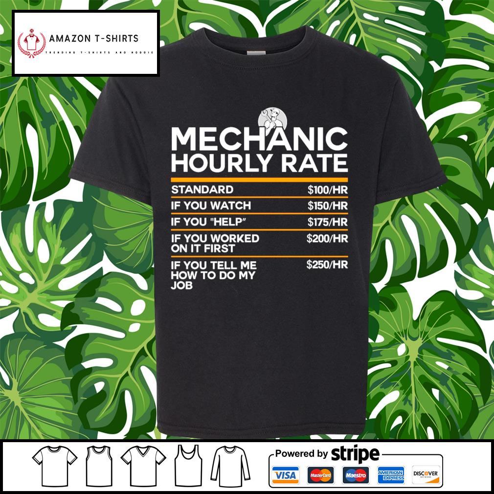 Mechanic hourly rate s youth-tee