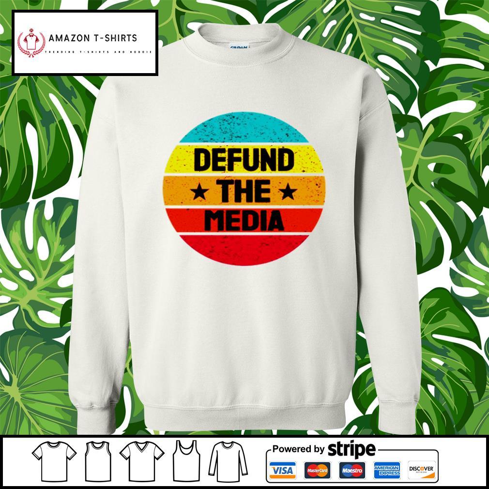 Vintage Defund the Media s sweater