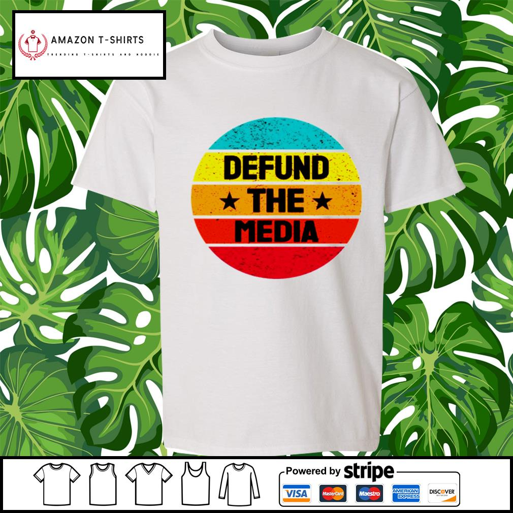 Vintage Defund the Media s youth-tee