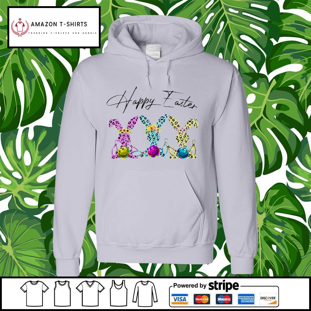 Bowling happy easter hoodie