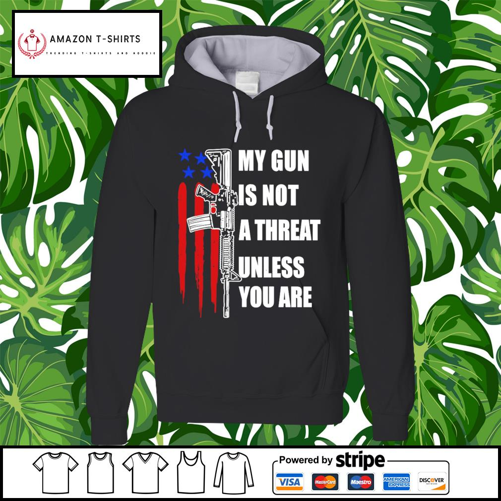 My gun is not a threat unless you are hoodie