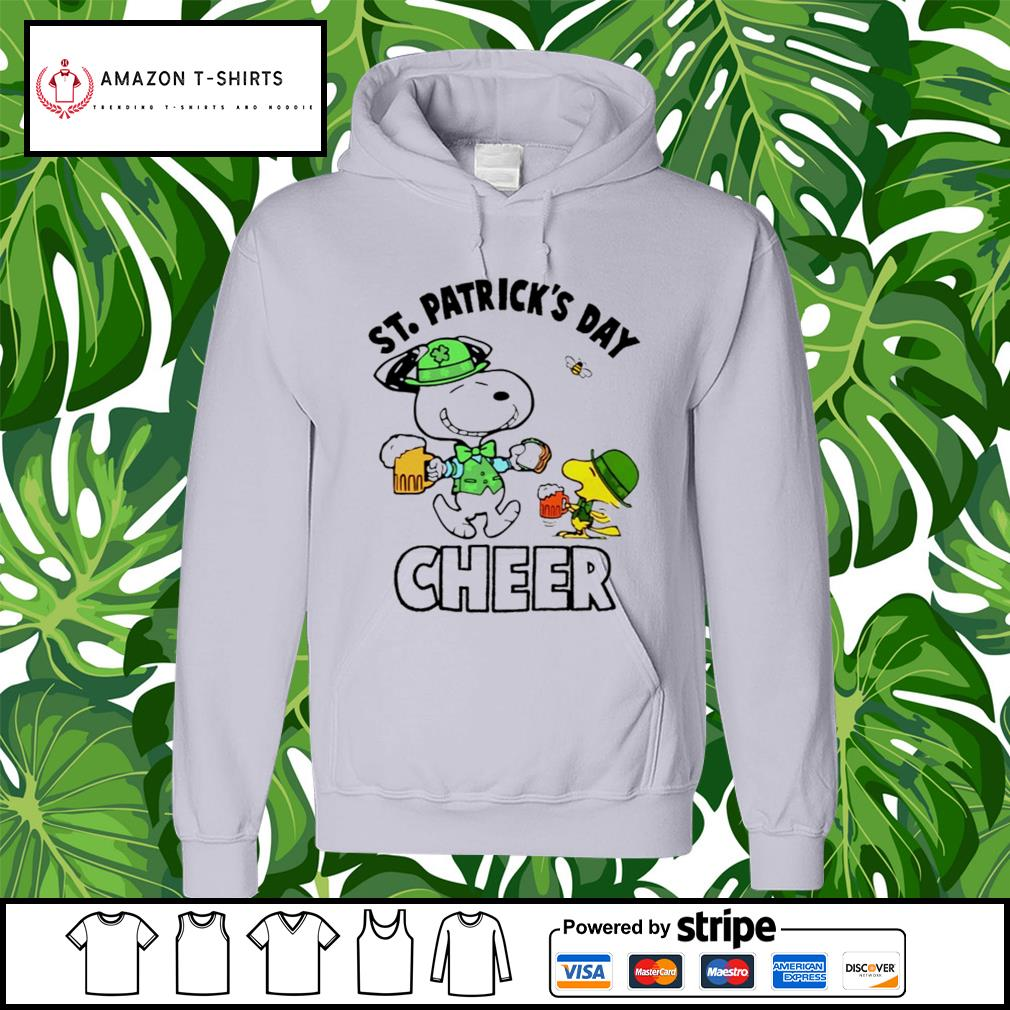 St.Patrick's Day Cheer Snoopy and Woodstock hoodie