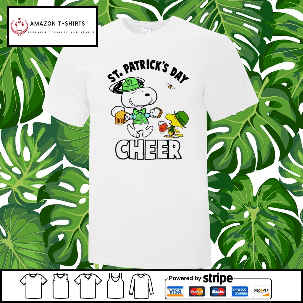 St.Patrick's Day Cheer Snoopy and Woodstock shirt