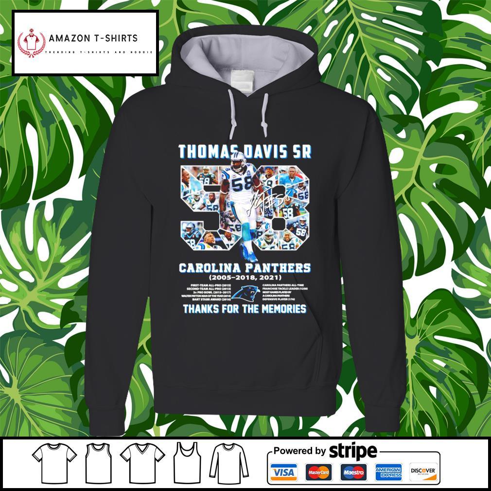 Thomas Davis Sr Carolina Panthers thank you for the memories hoodie