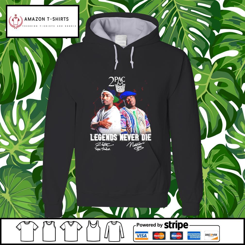 2PAC Biggie Smalls legends never die signature hoodie