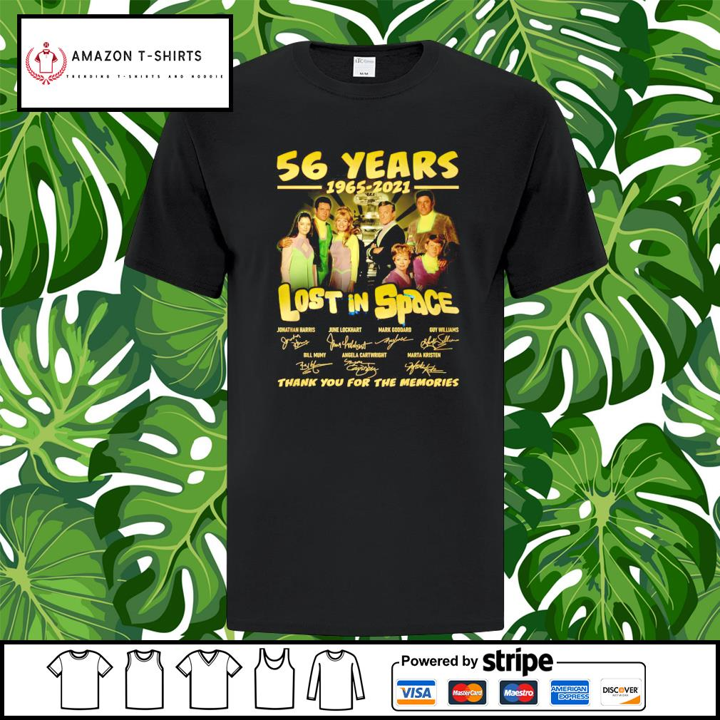 56 years 1965 2021 Lost in Space thank you for the memories shirt