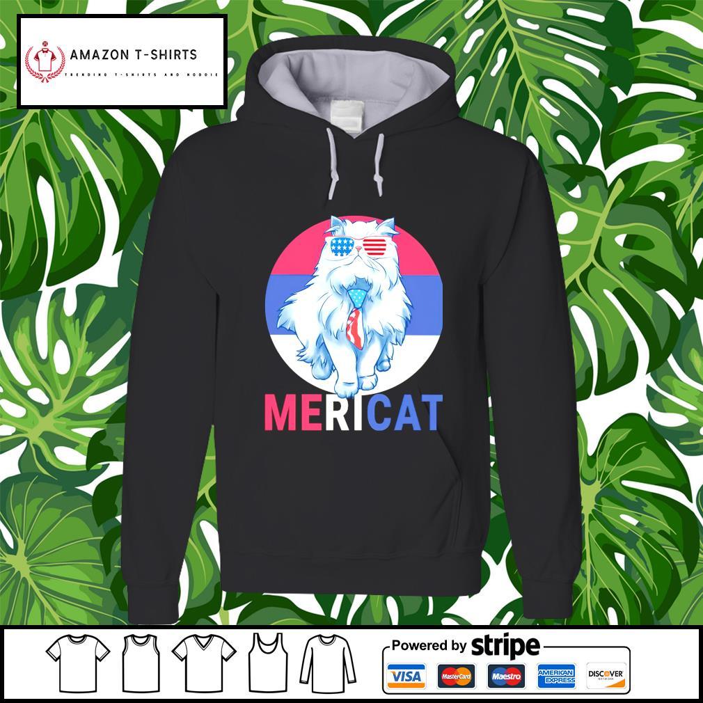 Cat US Flag Sunglasses hoodie