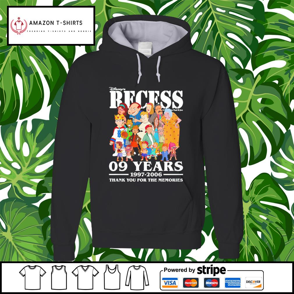 Disney's Recess 09 years 1997 2006 thank you for the memories hoodie