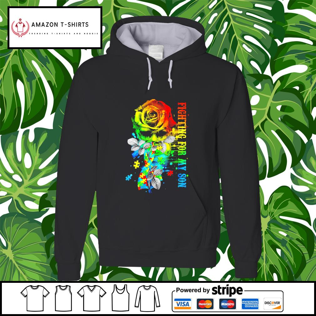 Fighting for my Son Autism flower hoodie