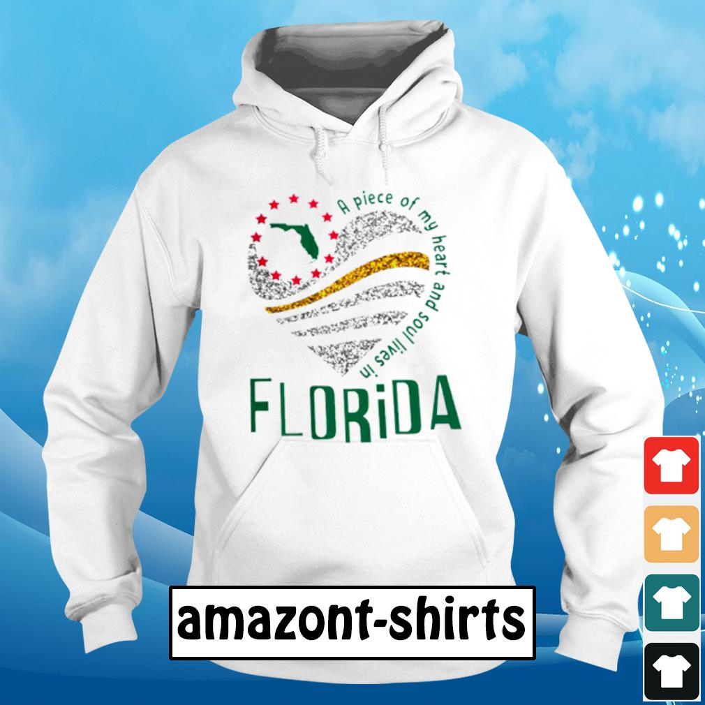 A piece of my heart and soul lives in florida s hoodie