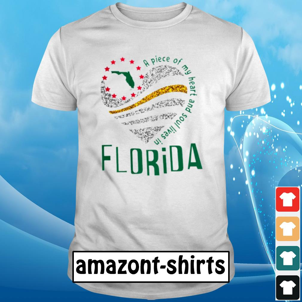 A piece of my heart and soul lives in florida shirt
