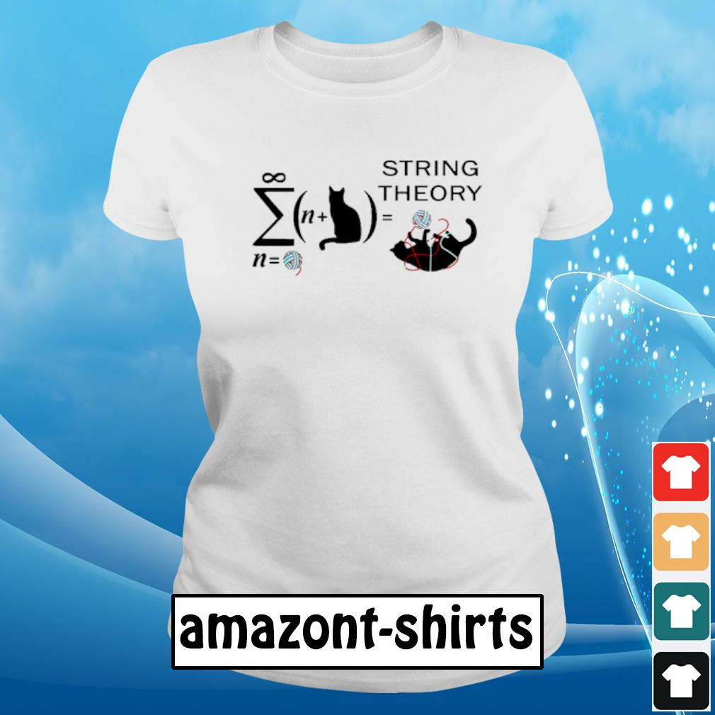 Cat String theory s ladies-tee
