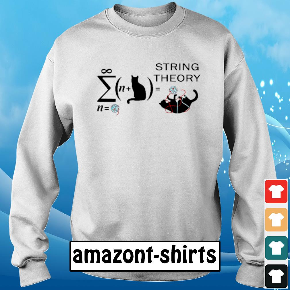 Cat String theory s sweater