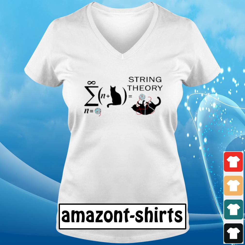 Cat String theory s v-neck-t-shirt