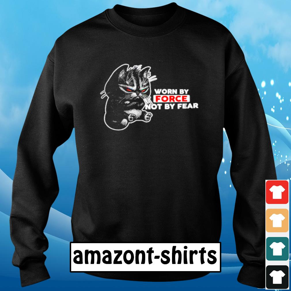 Cat worn by force not by fear s sweater