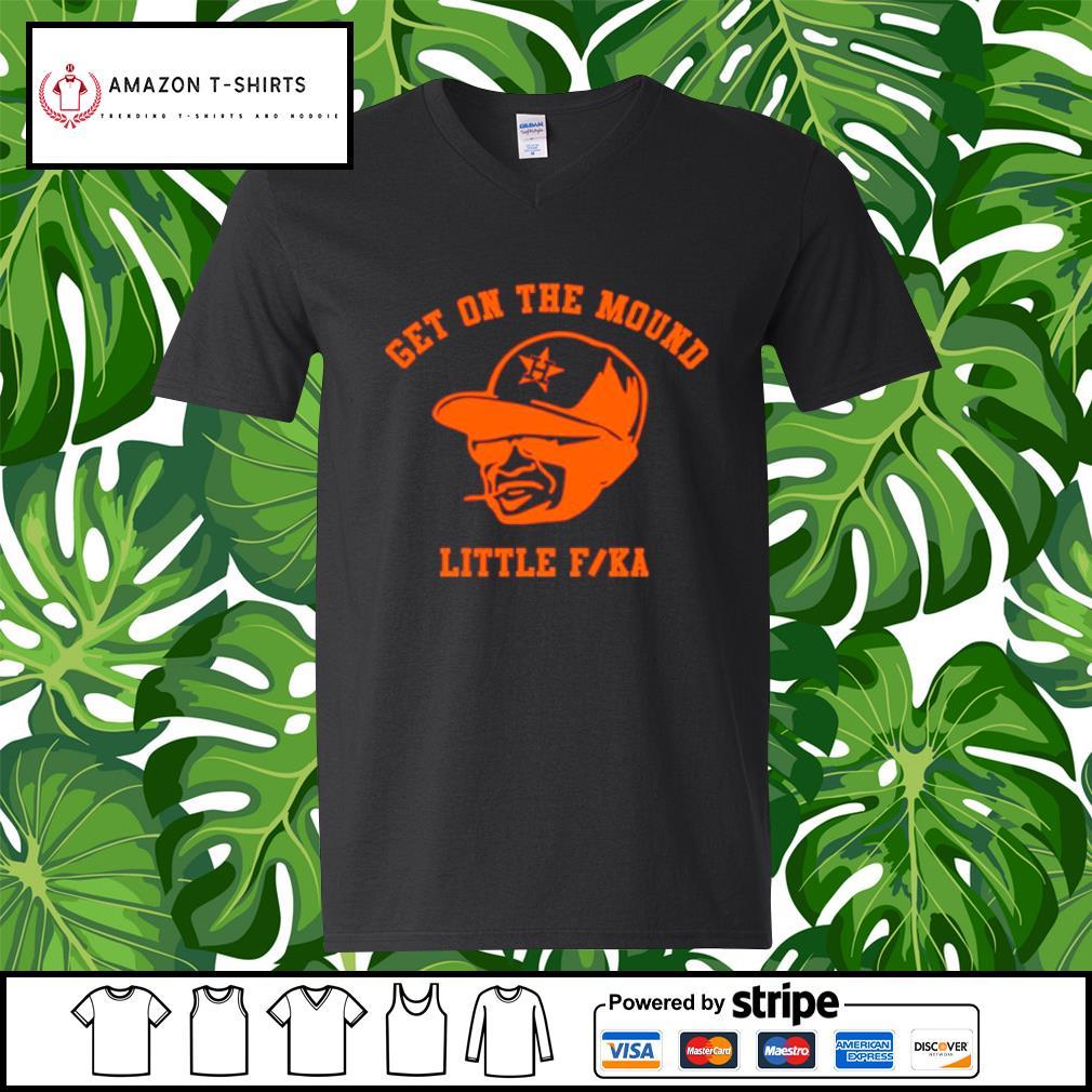 Dusty Baker get on the mound little fucka s v-neck-t-shirt