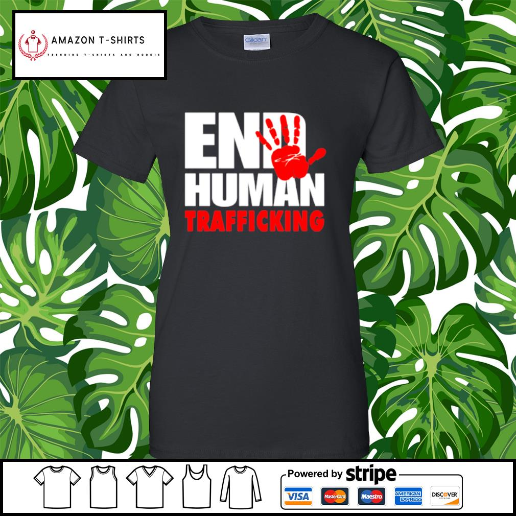 End human trafficking s ladies-tee