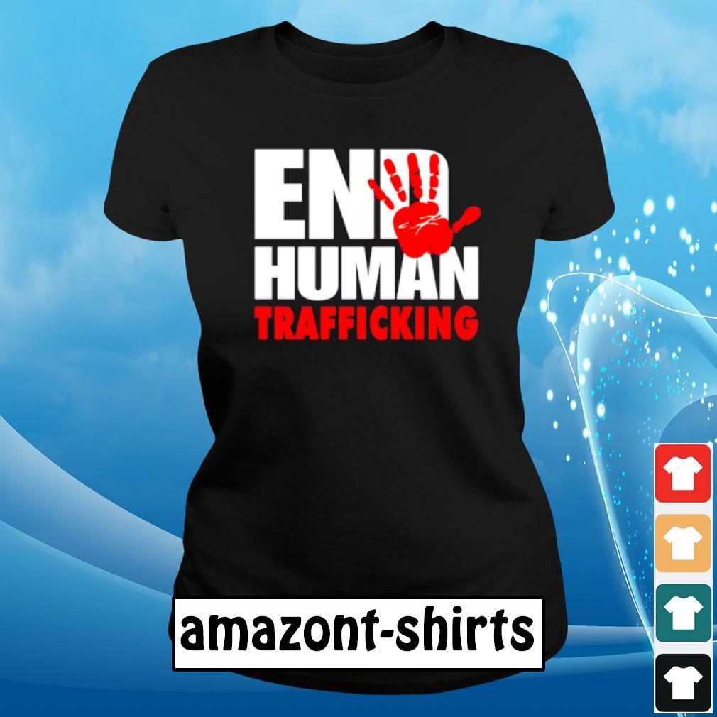 End human trafficking s ladies-tee