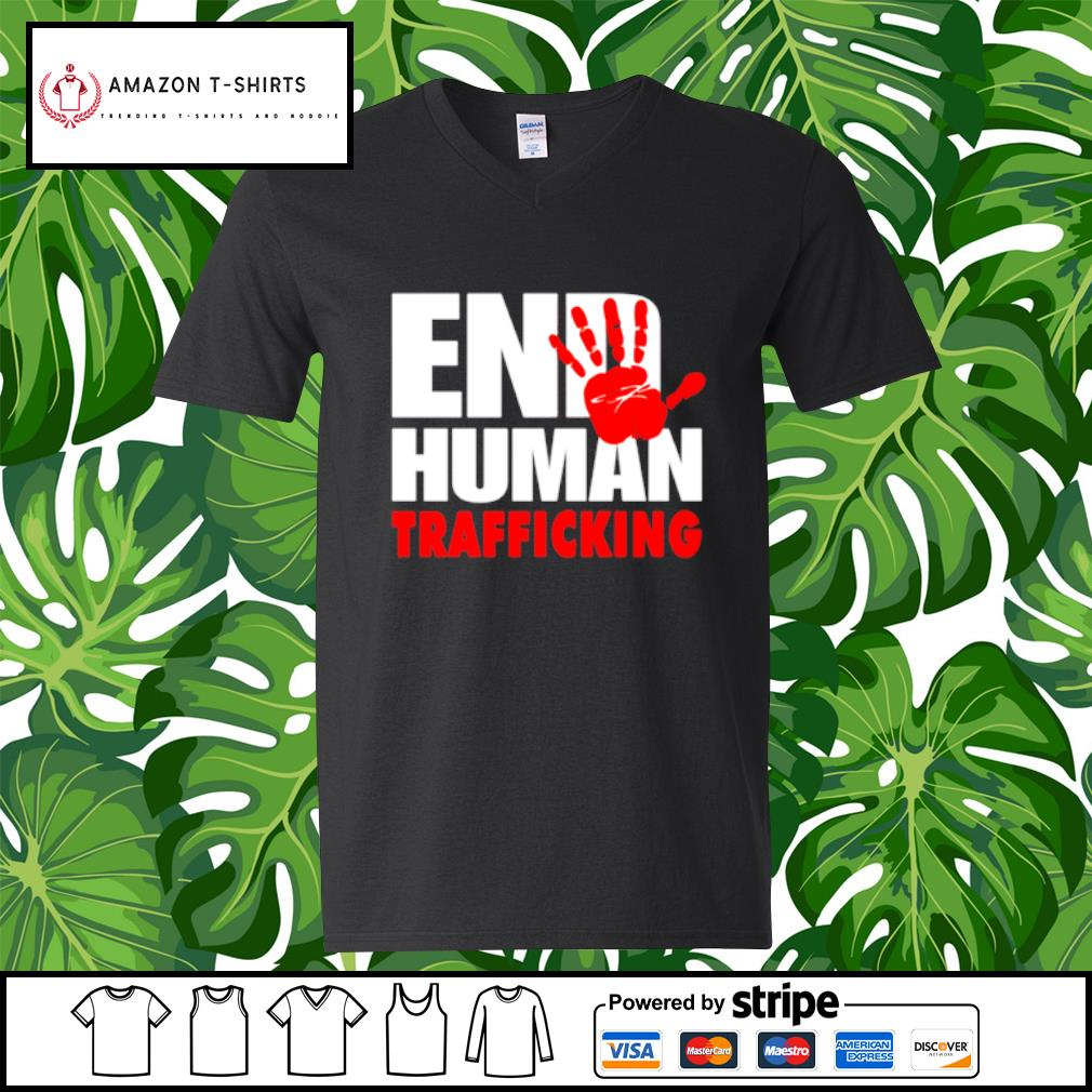End human trafficking s v-neck-t-shirt