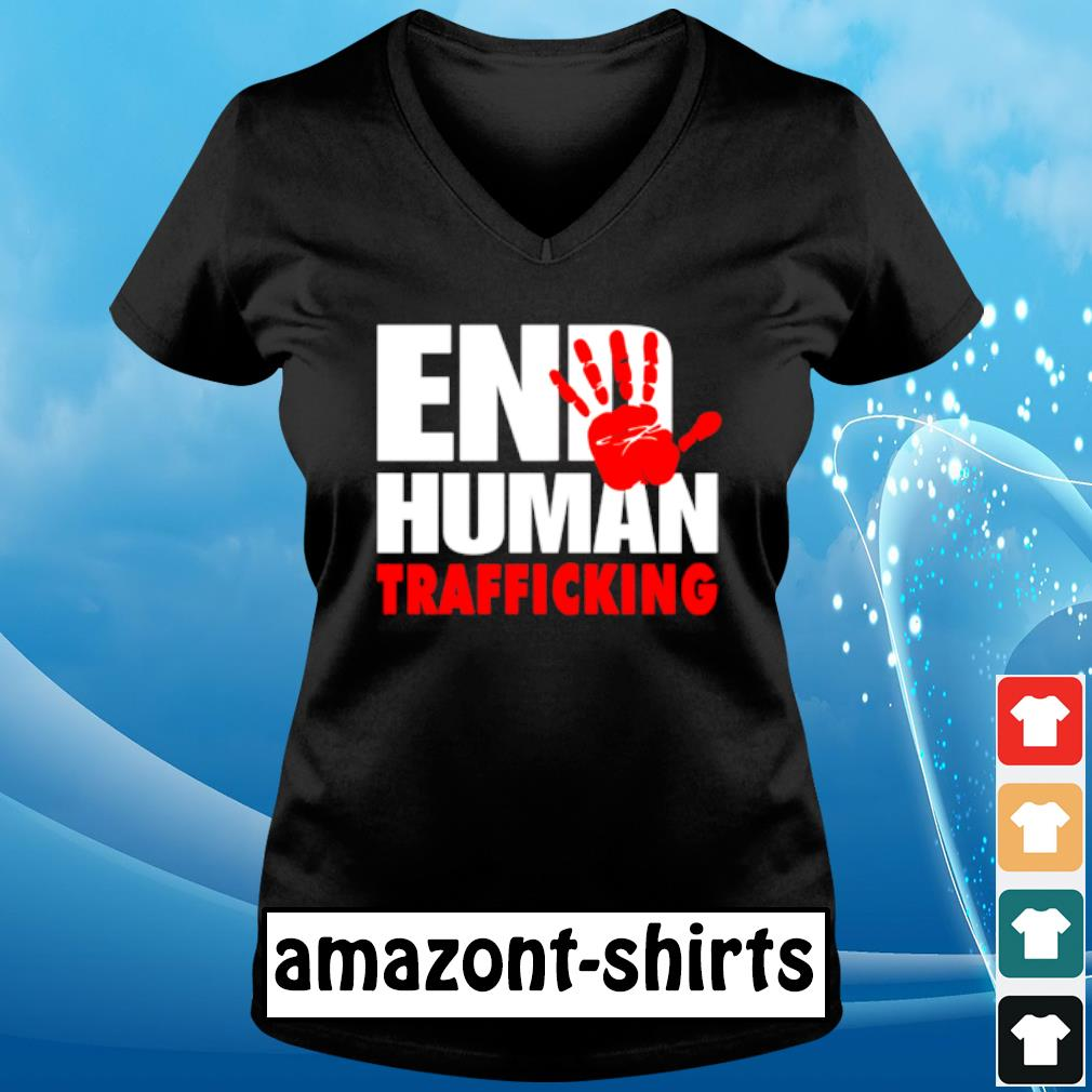 End human trafficking s v-neck-t-shirt