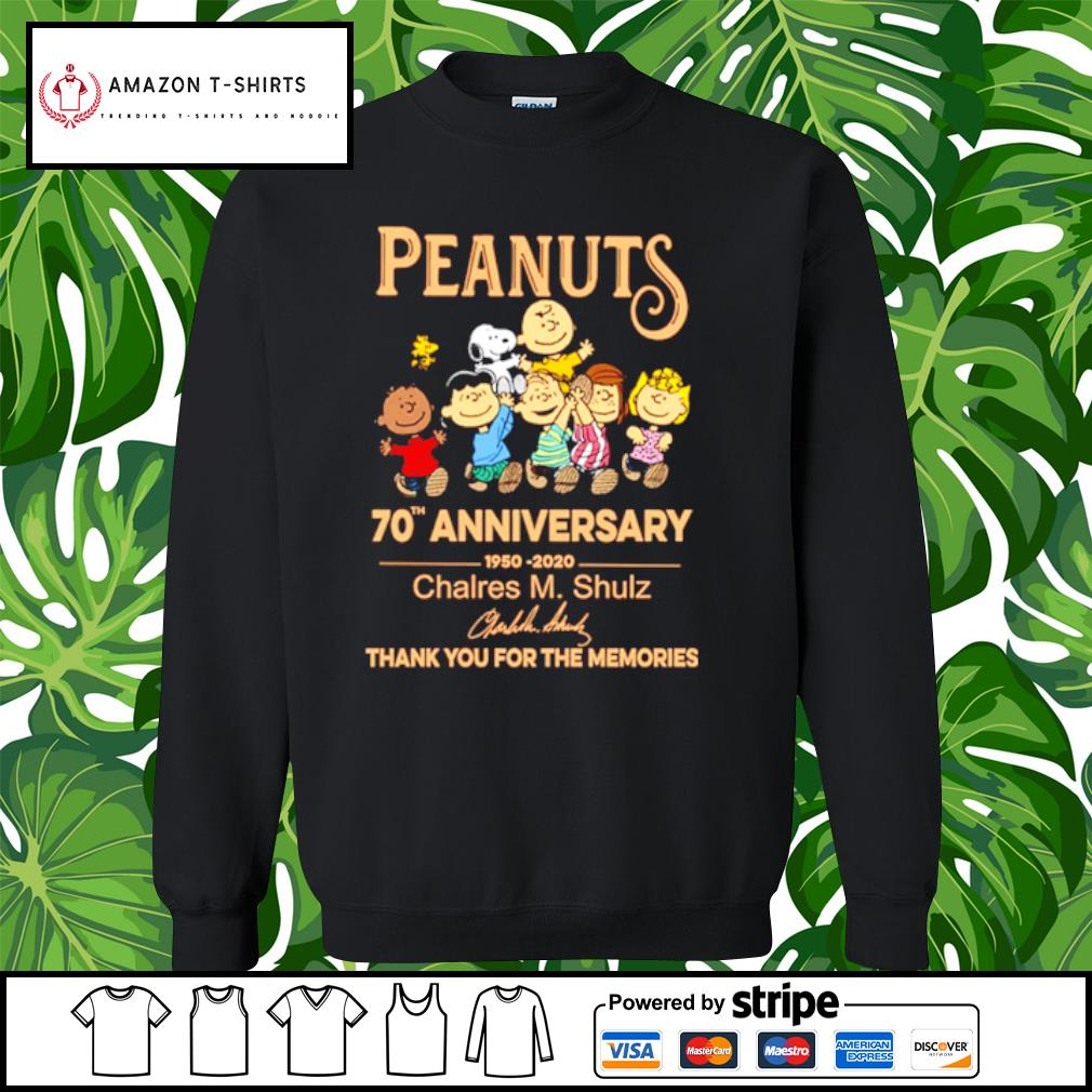 Peanuts Snoopy 70th anniversary 1950 2020 thank you for the memories s sweater